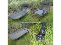 EX DISPLAY Carp Fishing Deluxe Bedchair 6 Leg Recliner Pillow Bed Chair NGT