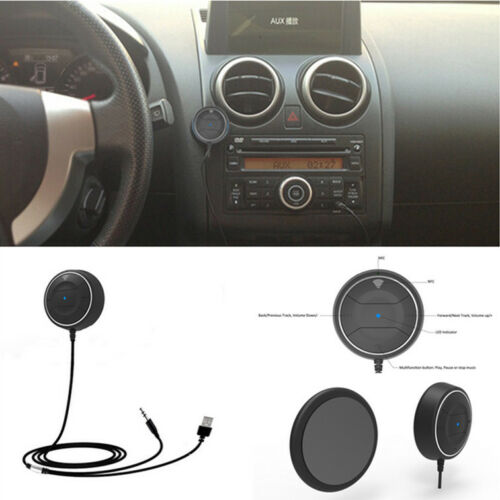 Car Wireless Bluetooth 4.0 Speaker AUX Hands Free Phone Charger Magnetic Base