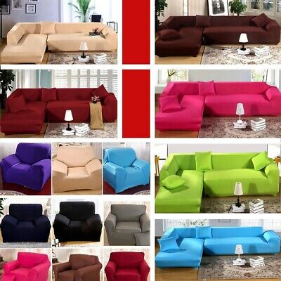 12 Types 1 2 3 4 Seater EASY Stretch Couch Sofa Lounge Covers Recliner Dining US ()