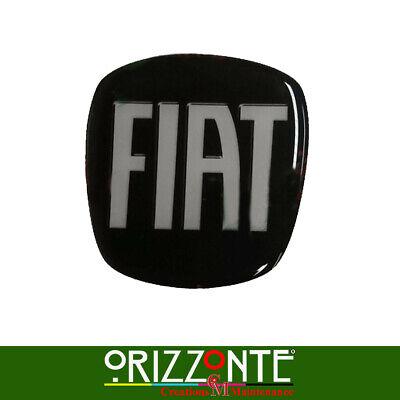 Adhesivo Friso Fiat 500L 500X 500 Logo Emblema 3D Resina Blanco y...
