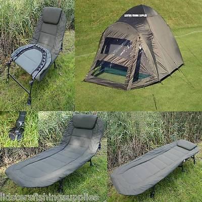 2 Man Double Skin Carp Fishing Bivvy 6 Leg NGT Deluxe Bed Chair Bedchair pillow