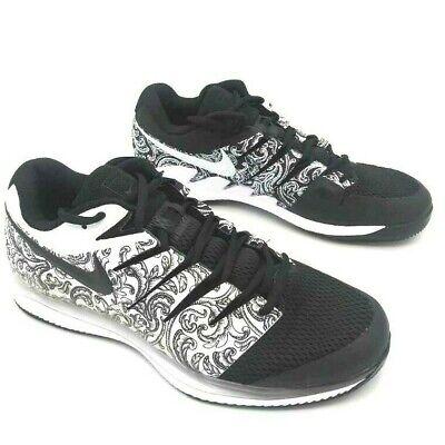 Nike Air Mens Sneakers Zoom Vapor X HC Black AA8030-103 Tennis Low Top 12 M New