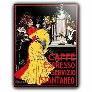 CAFFE-cafe-EXPRESO-FRANCES-Vintage-Retro-Anuncio-A5-LETRERO-METAL-PLACA-DE-PARED