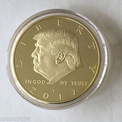 2017 Hot Sell Us Donald Trump Inauguration Gold Plated Coin President