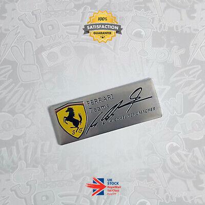Ferrari F1 Michael Schumacher Signed Limited Edition 3D Badge Scuderia GTO 458