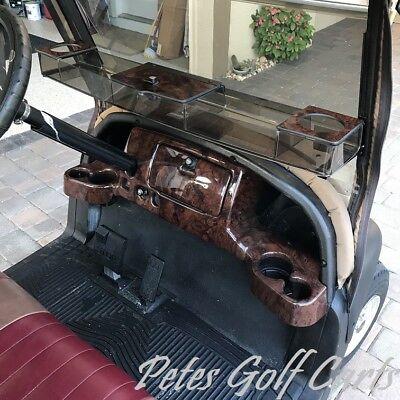 (Club Car Precedent Golf Cart Dash Cover in Wood Grain w/ Locking Glove Boxes)