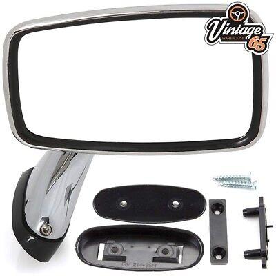 Classic Car MG MGB Triumph Ford Jaguar Mini Tex Style Chrome Door Mirrors RH