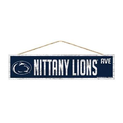 """Penn State Nittany Lions 4""""x17"""" Wood Sign Avenue Design [NEW] Street Banner Wall"""