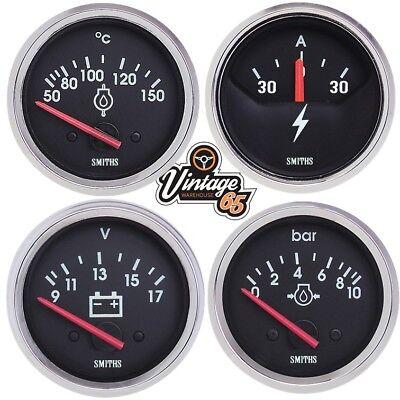 Smiths Cromo Clásico de Auto 52mm Temperatura Del Aceite & Presión