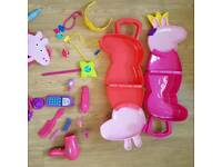 Peppa Pig Carry Case Sets and 4 DVDS