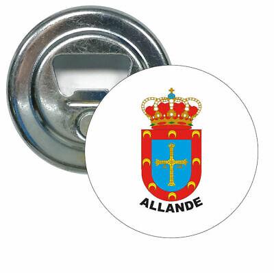 ABRIDOR REDONDO ASTURIAS - ESCUDO CONCEJO ALLANDE
