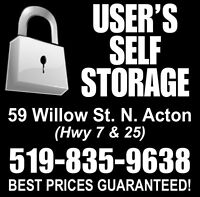 USERS SELF STORAGE - Acton / Milton / Georgetown