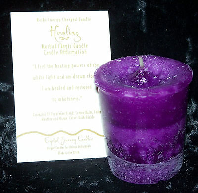 HEALING REIKI candles Crystal Journey CANDLES Herbal MAGIC votives candle