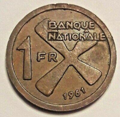 Katanga 1 Franc 1961 KM#1 Cross of Katanga (4560) Congo Belge
