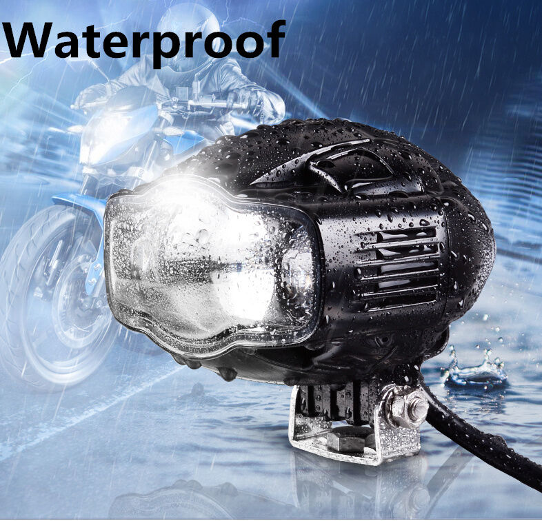 CREE LED Universal Motorcycle Auxiliary Lamp Spot Driving Fog Headlight + USB