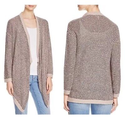 (Eileen Fisher Size XS Mocha Cascading Cardigan Sweater Organic Cotton $328 NEW)