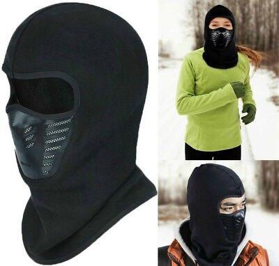 Black Ninja Mask (Full Face Ninja Mask Balaclava Ski Motorcycle Windproof Warm Winter Fleece)