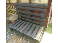 Pair of Pallet Benches for Garden