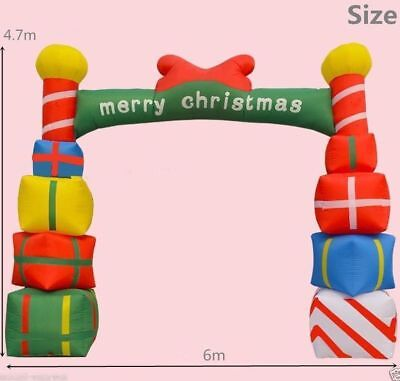 Giant Inflatable Christmas Arch with Gift Boxes for Opening Ceremony 6m b