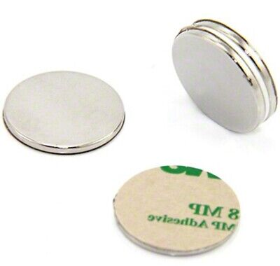 Lot 50 100 34 X116 Disc Magnets Adhesive Backed Neodymium Rare Earth N50