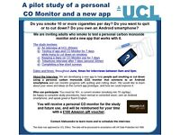 Adult daily smokers invited to test new quit aids for Android smartphones ( £100 Amazon voucher)