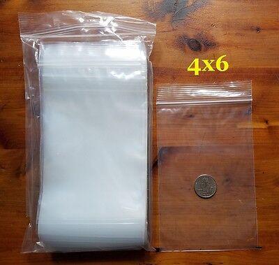 1000 Zip Bags 4 X 6 Clear 2 Mil Plastic Reclosable Top Lock Seal Mini Baggies