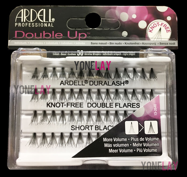 Pick Any Lot 10 ARDELL Eyelashes Individual Flare Lashes Knot Free Double Flares