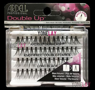 Lot 10 - ARDELL Eyelashes Individual Flare Lashes Knot Free Double Flares Long Ardell Individual Eyelashes Flare