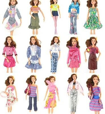 1 pc Fashion Party Daily Wear Dress Outfits Clothes Shoes For Barbie Doll  j