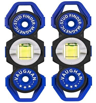 Vaughan 2 Pack Magnetic Stud Finders Pocket Sized No Batteries Needed - 240143