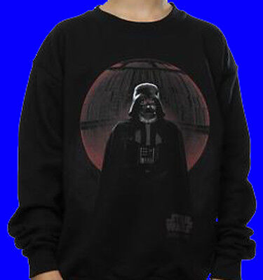 Star Wars Kinder Kleidung (OFFIZIELLER STAR WARS BOYS/KINDER ROGUE ONE SWEATER VADER DEATH STAR GLOW!)