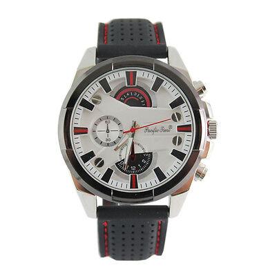 Herren Uhr Armbanduhr groß und schwer schwarz matt-silber Pacific Time