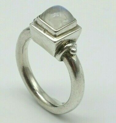 925 Silver & Moonstone Modernist Ring size N