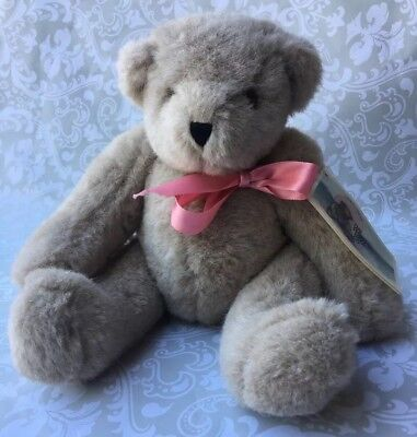 """The Vermont Teddy Bear Company - Sugarbush Jointed Bear 14"""" With Tags 1987"""