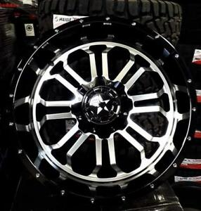 20x10 BLACK MACHINED WHEELS! awesome HUGE LIP! - Financing available -Dodge-Chevrolet-Gmc-Hummer -862