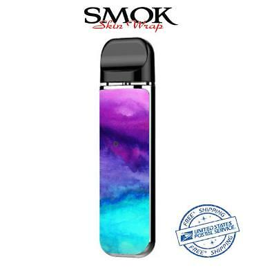 SMOK NOVO Skin Decal Protective Wrap Case Cover Sticker kit Purple teal