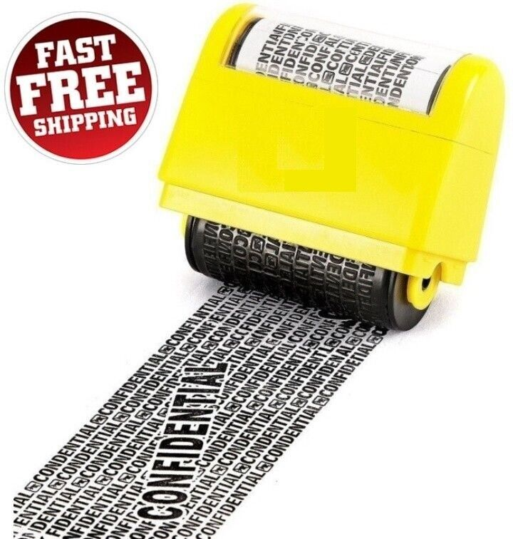 Roller Stamp Data Security Protection Theft Prevention ID Identity Rolling Guard Business & Industrial