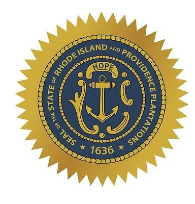 Rhode Island State Seal (Rhode Island State Seal Sticker MADE IN THE USA R556 )