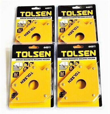 4 Tolsen Tools 50lb Arrow Welding Magnet Steel Angle Holder 50 Lb Strength 44911