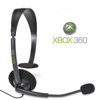 %100 GENUINE MICROSOFT XBOX 360 OFFICIAL WIRED CHAT HEADSET W/ BOOM MIC