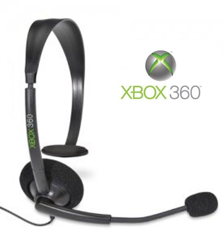 %100 GENUINE MICROSOFT XBOX 360 OFFICIAL WIRED CHAT HEADSET