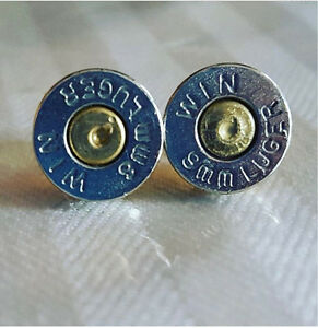 Bullet Stud Earrings with Primer