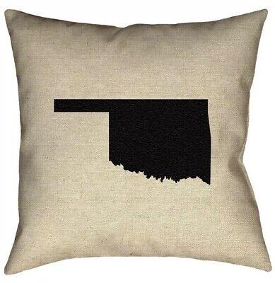 """Artverse Katelyn Smith Oklahoma 16""""x16"""" Pillow, New"""
