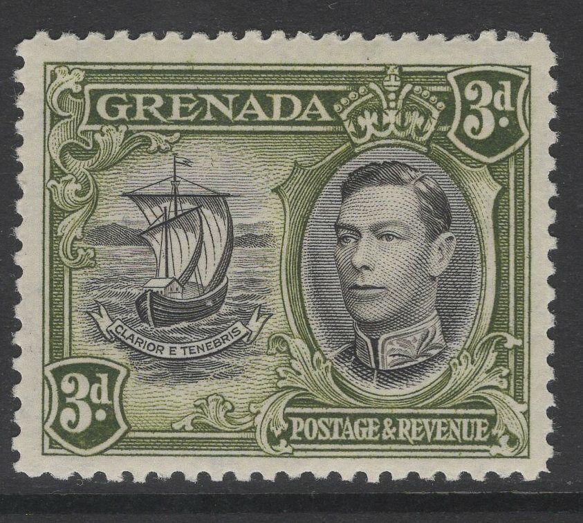 GRENADA SG158 1938 3d BLACK & OLIVE-GREEN p12½ MNH