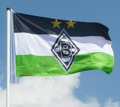 "HISSFAHNE FAHNE ""Logo""  VFL BORUSSIA MÖNCHENGLADBACH NEU"