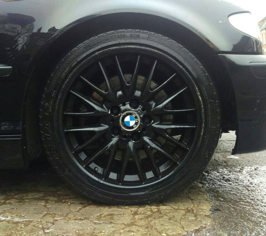 18 Inch Genuine Staggered BLACK Bmw MV1 Alloy Wheels And