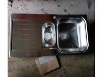 Stainless steel sink (bowl & half)