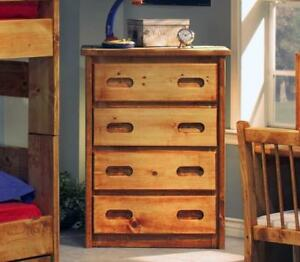 FREE delivery in Vancouver! Pine 4 Drawer Chest in Amber Wash
