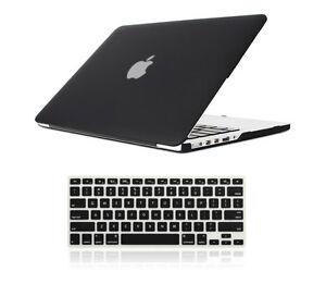 Black Rubberized Matte Hard Case Cover Skin Set Macbook Pro / Air 11 12 13 15