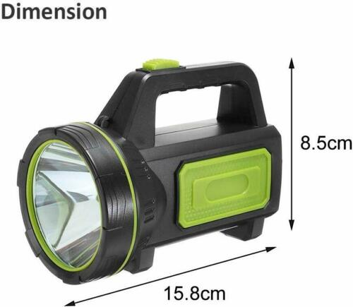 Details about  /135000LM LED Searchlight Spotlight USB Rechargeable Hand Torch Work Light Lamp